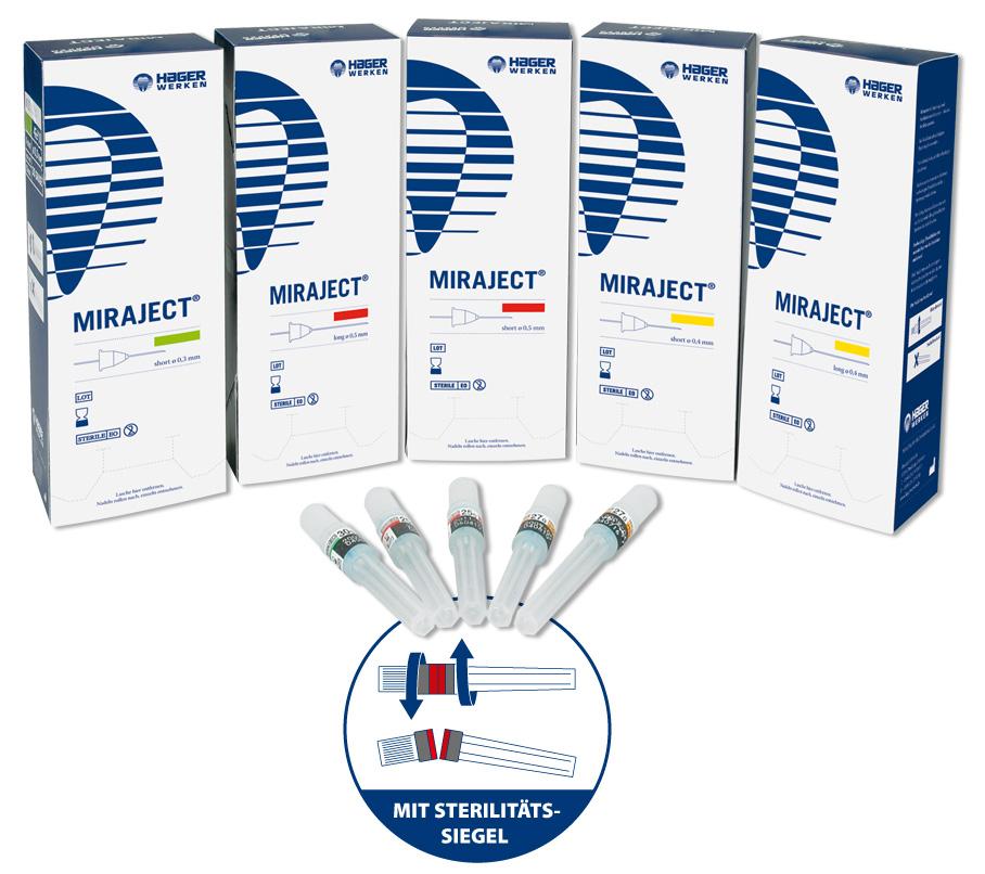 Miraject Sortiment + Sterilitäts-Siegel